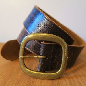 [Lucky Brand] Dark Brown Cutout Leather Belt